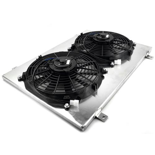 JEGS 52063K2 Aluminum Fan Shroud Kit Includes