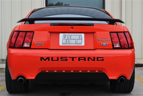 mustang rear lower bumper blackout flat black 99 04 gt v6