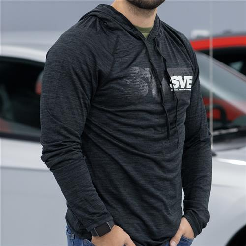 SVE Cool-Dri Performance Hooded Pullover - Medium  - Dark Graphite