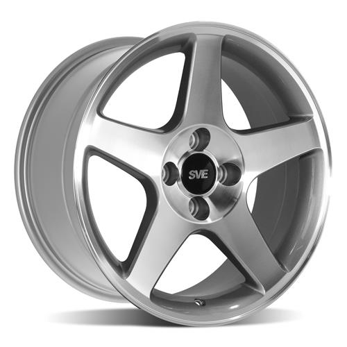 SVE Mustang 2003 Cobra Style Wheel & Tire Kit - 17x9  - Machined (79-93) Nitto NT555 G2