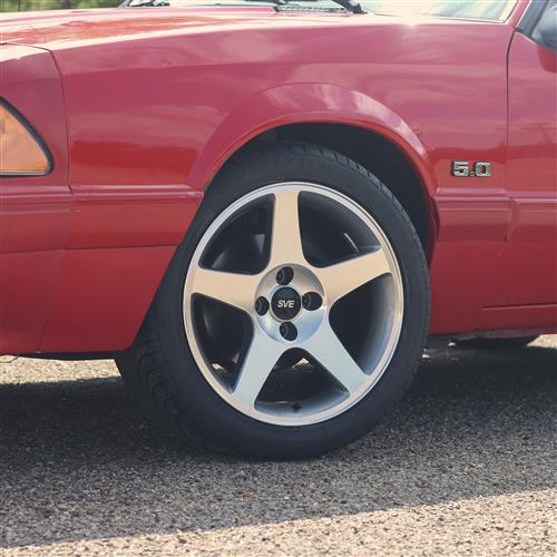 SVE Mustang 2003 Cobra Style Wheel & Tire Kit - 17x9  - Machined - Z II Tires (79-93)