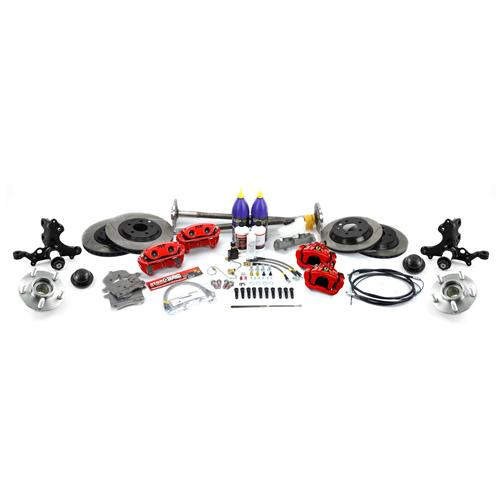 SVE Mustang 5-Lug Conversion Kit - 28 Spline Red (87-93)