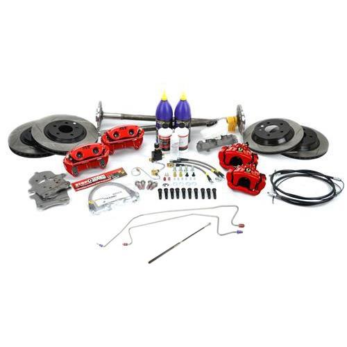 SVE Mustang 5-Lug Conversion Kit, 31 Spline Red (87-93)