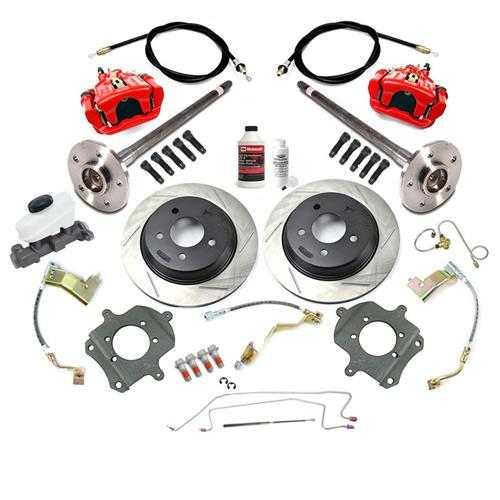 SVE Mustang 5-Lug Rear Disc Conversion Kit, 31 Spline Red (87-93)