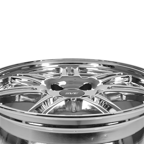 SVE Mustang Anniversary Wheel & Tire Kit - 17x9/10  - Chrome (79-93) Nitto NT555 G2