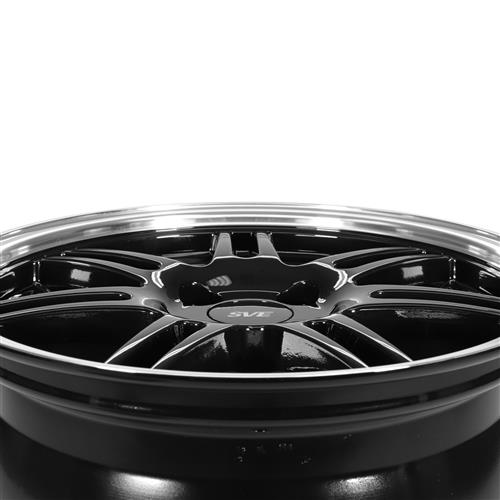 SVE Mustang Anniversary Wheel & Tire Kit - 17x9 Black (79-93) Sumitomo ZII