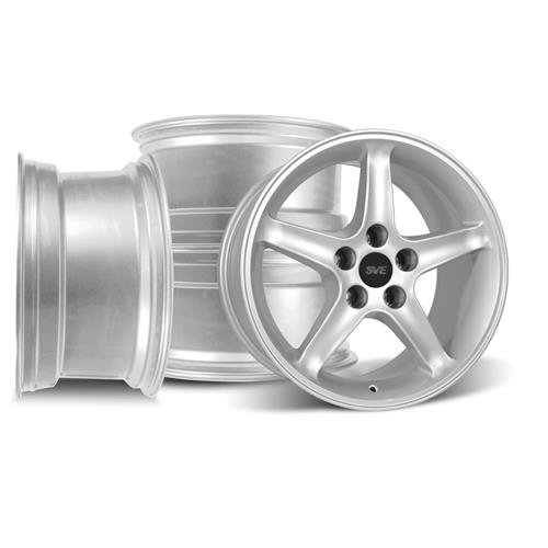 SVE Mustang Cobra R Wheel Kit - 17x9/10.5  - Silver (94-04)