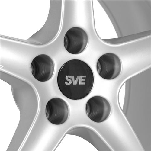 SVE Mustang Cobra R Wheel & Tire Kit - 17x9/10.5  - Silver - G2 Tires (94-04)