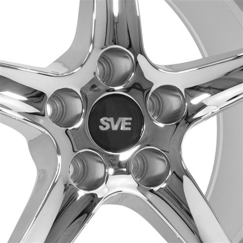 SVE Mustang Cobra Wheel & Tire Kit 17x8/10  - Chrome - G2 Tires (94-04)