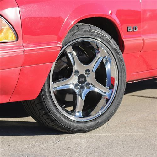 SVE Mustang Cobra Wheel & Tire Kit 17x8/10   - Chrome - Z II Tires (79-93)