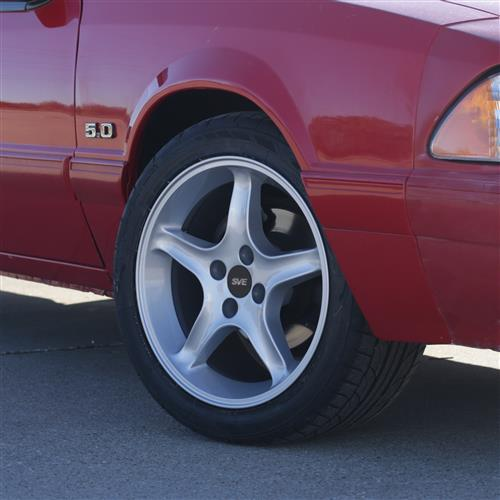 SVE Mustang Cobra Wheel & Tire Kit 17x8/10  - Silver - G2 Tires (79-93)