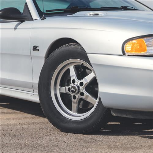 SVE Mustang Drag Wheel & Tire Kit - 15x3.75 / 15x10   - Dark Stainless  (94-04)