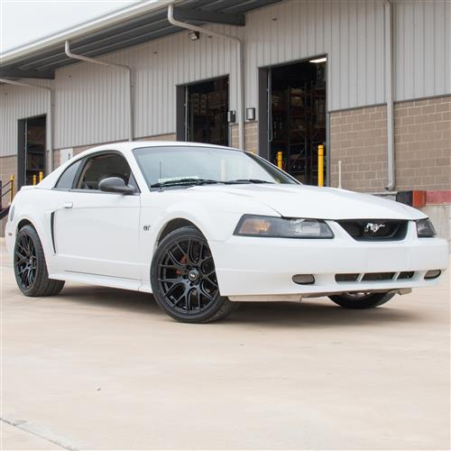 SVE Mustang Drift Wheel & Tire Kit -18x9  - Gloss Black - NT05 Tires  (94-04)