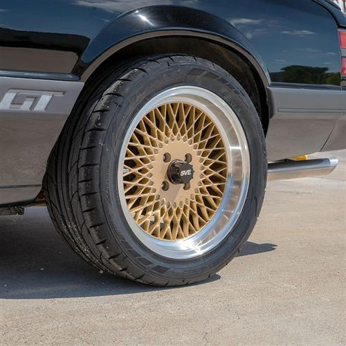 SVE Mustang Mesh Wheel Kit - 17x8/9  - Classic Gold (79-93)