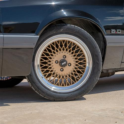 SVE Mustang Mesh Wheel & Tire Kit - 17x8  - Classic Gold - NT555 G2 Tires (79-93)