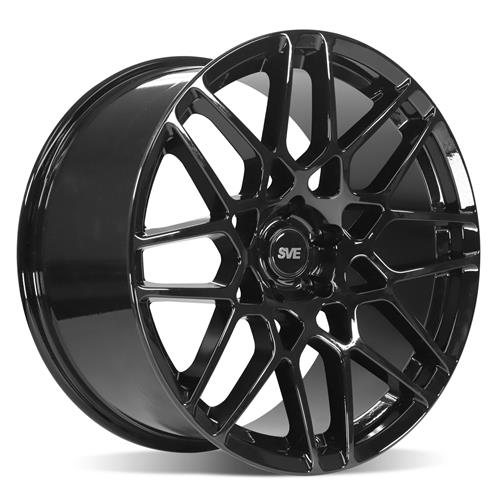 SVE Mustang S500 Wheel & 295 Tire Kit - 20x8.5/10  - Gloss Black (15-20) Nitto Invo