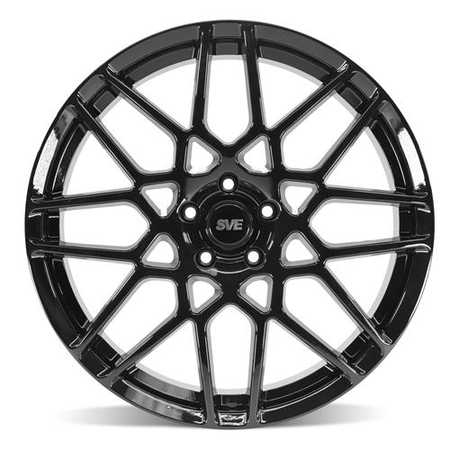 SVE Mustang S500 Wheel & Tire Kit - 20x8.5/10  - Gloss Black (05-14) Ohtsu FP8000