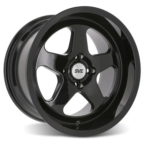 SVE Mustang Saleen SC Style Wheel & Tire Kit - 17x8/10  - Gloss Black - Deep Dish (79-93) Nitto NT555 G2