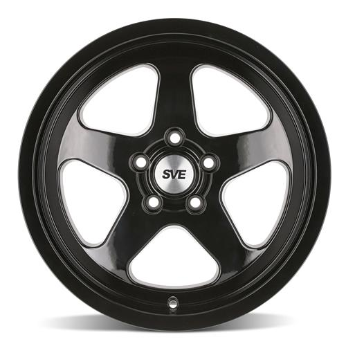 SVE Mustang Saleen SC Style Wheel & Tire Kit - 17x8/9  - Gloss Black (79-93) Sumitomo HTR Z5