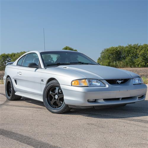 SVE Mustang Saleen SC Style Wheel & Tire Kit - 17x9/10  - Gloss Black - Deep Dish (94-04) Nitto NT555 G2