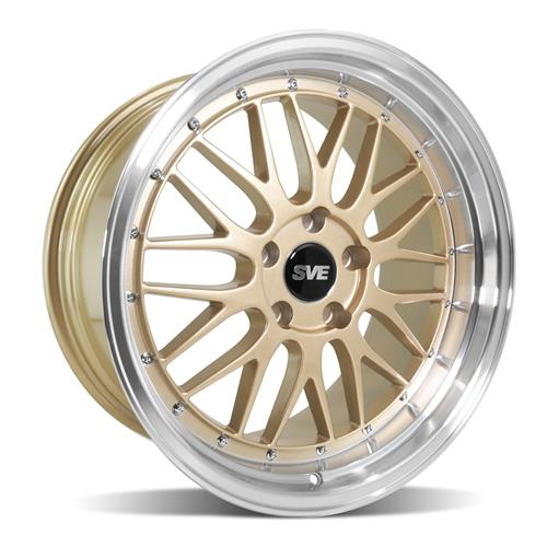 SVE Mustang Series 1 Wheel & Tire Kit - 18x9/10  - Liquid Gold (94-04) Nitto NT05