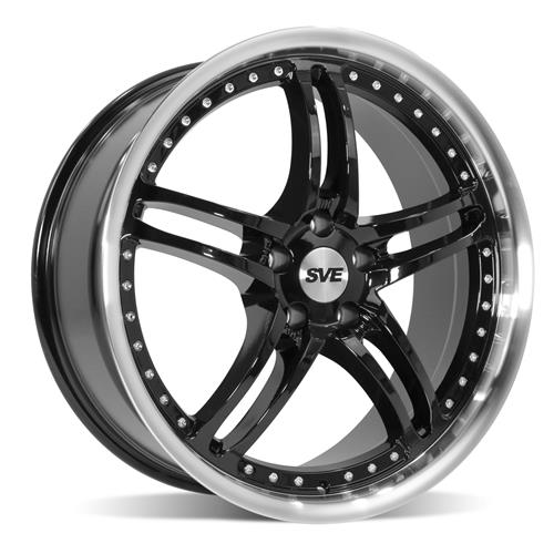 SVE Mustang Series 2 Wheel - 20x8.5 Black w/ Machined Lip (05-18)
