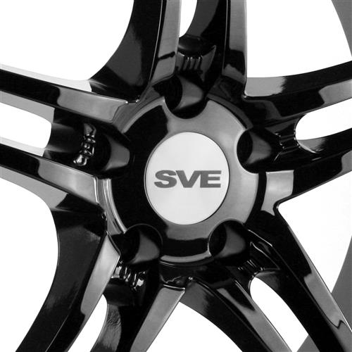 SVE Mustang Series 2 Wheel Kit - 19x9/10  - Black w/ Machined Lip (15-18)
