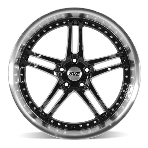 SVE Mustang Series 2 Wheel & Tire Kit - 20x8.5/10 Black w/ Machined Lip (15-17) Nitto NT555 G2