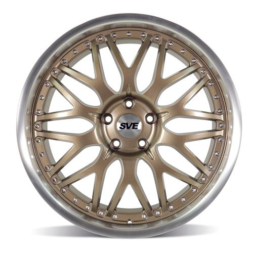 SVE Mustang Series 3 Wheel Kit - 20x8.5/10  - Bronze w/ Machined Lip (15-18)