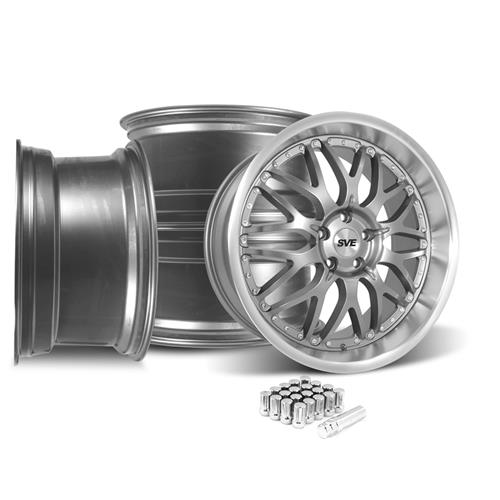 SVE Mustang Series 3 Wheel & Lug Nut Kit - 20x8.5/10 Gun Metal (15-18)
