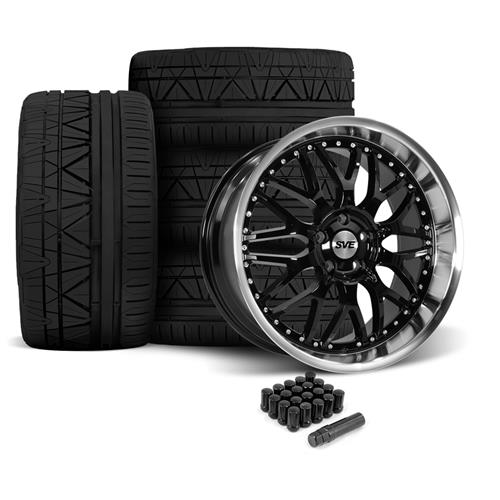 SVE Mustang Series 3 Wheel & Tire Kit - 20x8.5/10 Gloss Black (05-14) Nitto Invo