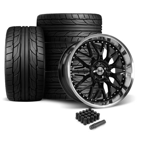 SVE Mustang Series 3 Wheel & Tire Kit - 20x8.5/10 Gloss Black (05-14) NT555 G2