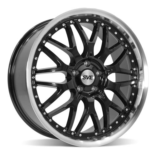 SVE Mustang Series 3 Wheel & Tire Kit - 20x8.5/10 Gloss Black (15-18) Ohtsu