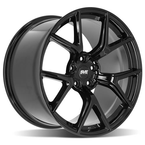 sve mustang sp2 wheel 19x11 gloss black 05 19 2003 Mustang Cobra Staggered Wheels