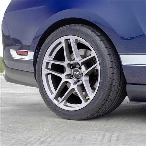 SVE Mustang X500 Wheel & Tire Kit - 19x10/11  - Gloss Silver - NT05 Tires (05-14)