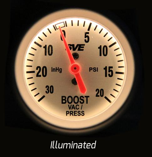 Picture of Oil Temperate Gauge illuminated