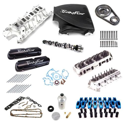 87-93 MUSTANG 5.0L TOP END ENGINE KIT WITH BLACK TRICK FLOW TRACK HEAT INTAKE, TWISTED WEDGE HEADS AND TRICK FLOW STAGE 2 CAMSHAFT