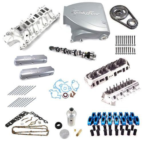 Trick Flow Mustang Top End Engine Kit Stage 2  Silver (87-93) w/ Track Heat Intake 5.0
