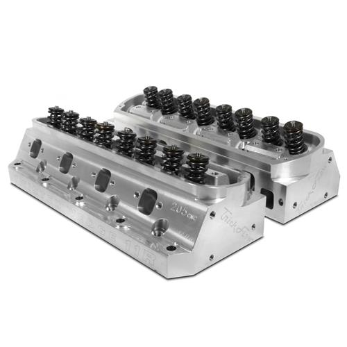 Trick Flow Mustang Twisted Wedge 11R 205cc Cylinder Heads  - 66cc - Titanium Retainers (79-95) TFS-5261T661-C03