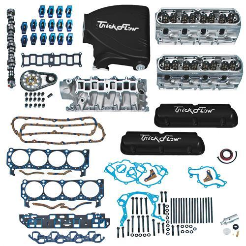 Trick Flow Mustang Top End Engine Kit, w/ Street Burner Intake Black 5.0L