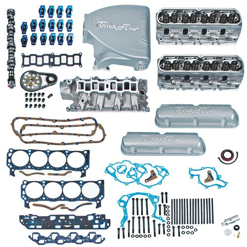 1987-93 Mustang 5.0L Top End Engine Kit with Silver Trick Flow Track Heat Intake, Twisted Wedge Heads And Trick Flow Stage 1 Camshaft