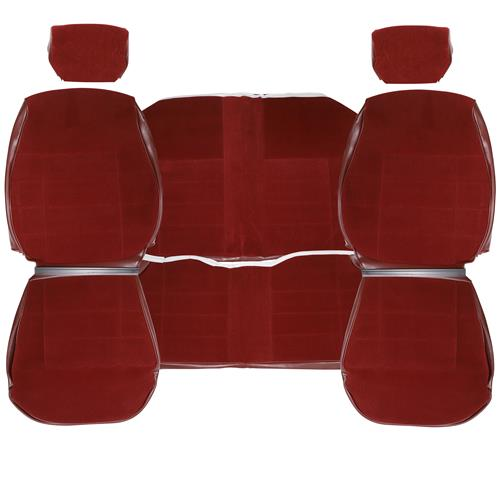 TMI Mustang Cloth Seat Upholstery - LX Standard Seats  - Ruby Red (1993) Coupe 43-73293-6795-59-59