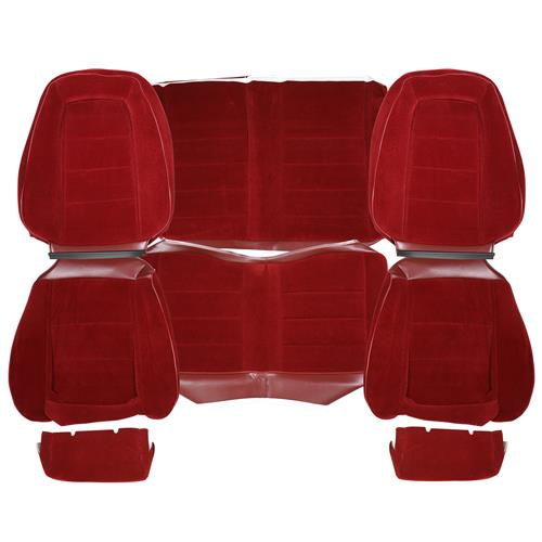 TMI Mustang Cloth Seat Upholstery - Sport Seats  - Canyon Red (1984) Convertible 43-74724-59-59-59