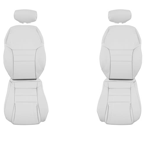 TMI Mustang Front Sport Seat Upholstery  - Oxford White Vinyl (94-96) Coupe/Convertible 43-76304-965