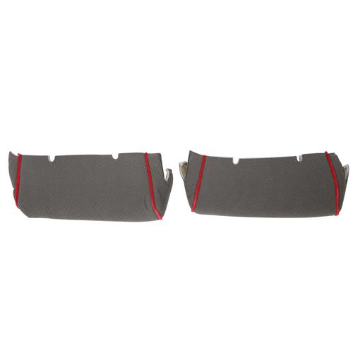 TMI Mustang Sport Seat Upholstery - Cloth  - Gray w/ Red Welt (85-86) Hatchback 43-75624-561-613-57W