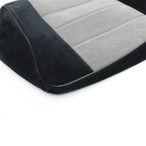 TMI Mustang Sport Seat Upholstery Black Cloth (1983) Convertible 43-74723-51-51-56