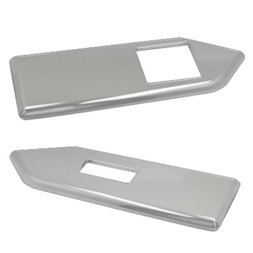 UPR Mustang Window Switch Plates Satin Billet (10-14) Coupe 10371001