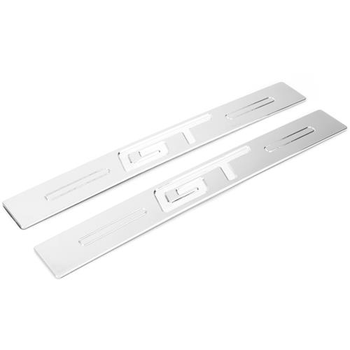 UPR Mustang GT Logo Door Sills  - Chrome (05-14) 1063-07