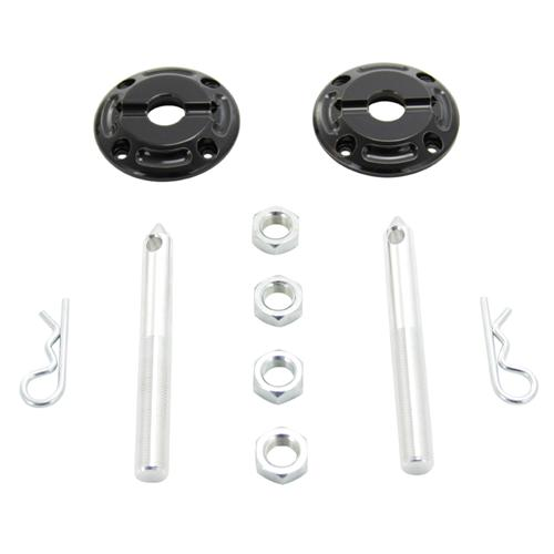 UPR Mustang Hood Pin Kit Black Billet (79-14) 1138-11
