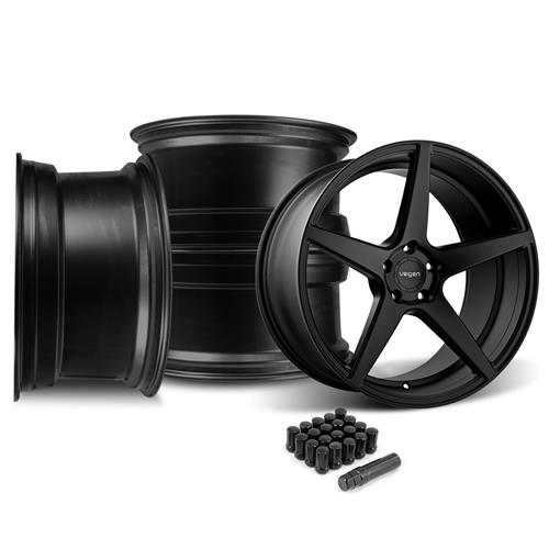 Velgen Mustang Classic5 Wheel Kit - 20x9/10.5  - Satin Black (15-17)